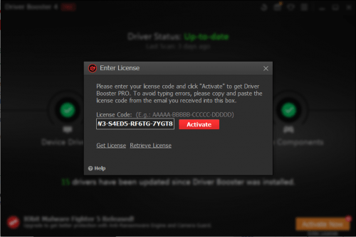 driver booster 5.3 license key
