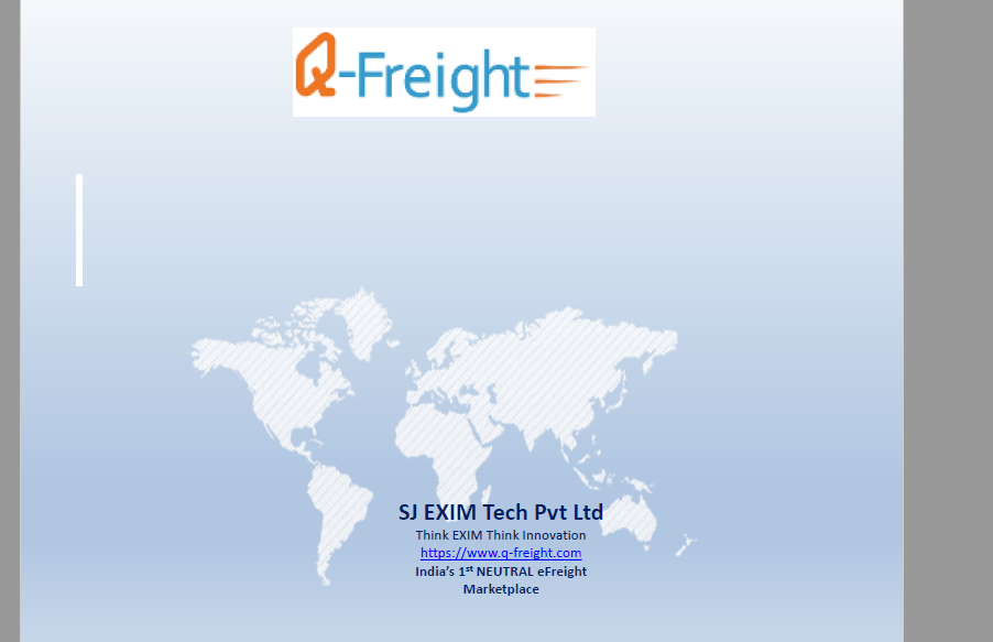 Funding Request for our Q-Freight eFreight Marketplace Project