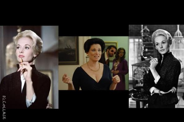 Erica in American Hustle Channeling Tippi Hedrin's Hairstyle