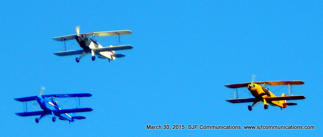 Three Colorful Airplanes