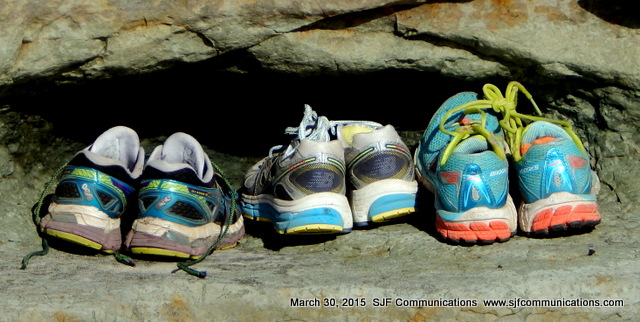 Sneakers in a Little Cave in a Rock at Torrey Pines State Beach