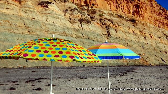 Colorful Umbrellas at Torrey Pines State Beach