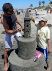 San Diego Sand Castles Owner JT Estrela with Chris and Trey
