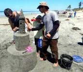 San Diego Sand Castles Owner JT Estrela with Chris and Trey