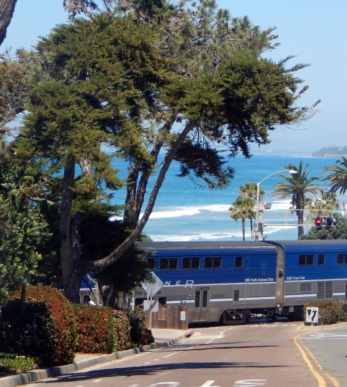 Train Passing Through Del Mar