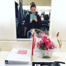 Devon Hadsell Backstage at 'Mean Girls'