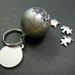 Wikipedia globe in keychain