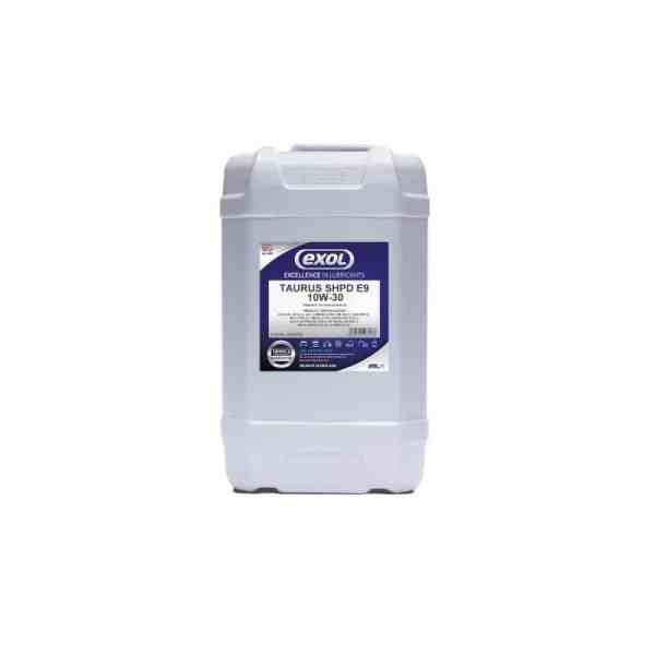 Catalogue image of Exol Taurus SHPD E9 10W30 25Ltr Oil Grease Lubricant