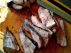 Weber BBQ Charcoal Grilled TriTip Roast - Sliced