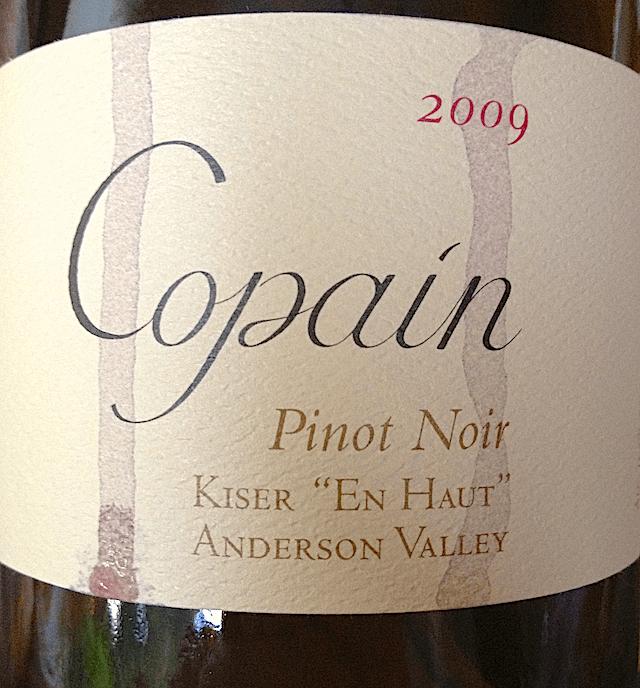 "2009 Copain Pinot Noir - Kiser ""En Haut"" - Anderson Valley"