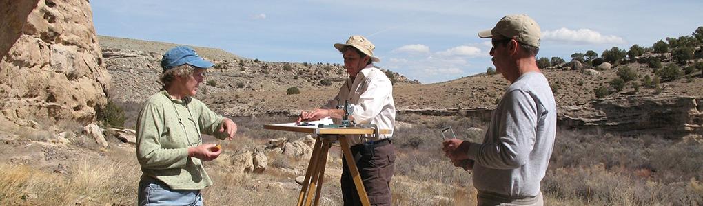 Mapping at Gooseneck Rockshelter