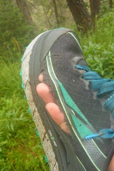 A little shoe mishap eight miles in on day one of three.