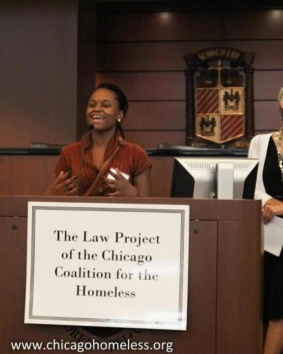 Robinson currently works with the Chicago Coalition for the Homeless as an AmeriCorps VISTA. (Chicago Coalition for the Homeless)