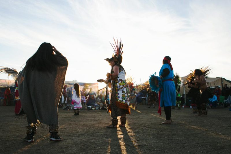 Dancers before a large crowd at the Standing Rock protests on October 8, 2016. (Pat Nabong/MEDILL)