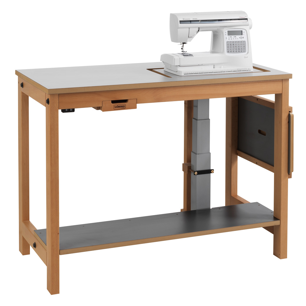 Sjöbergs Sewing machine table, with electrical, light gray