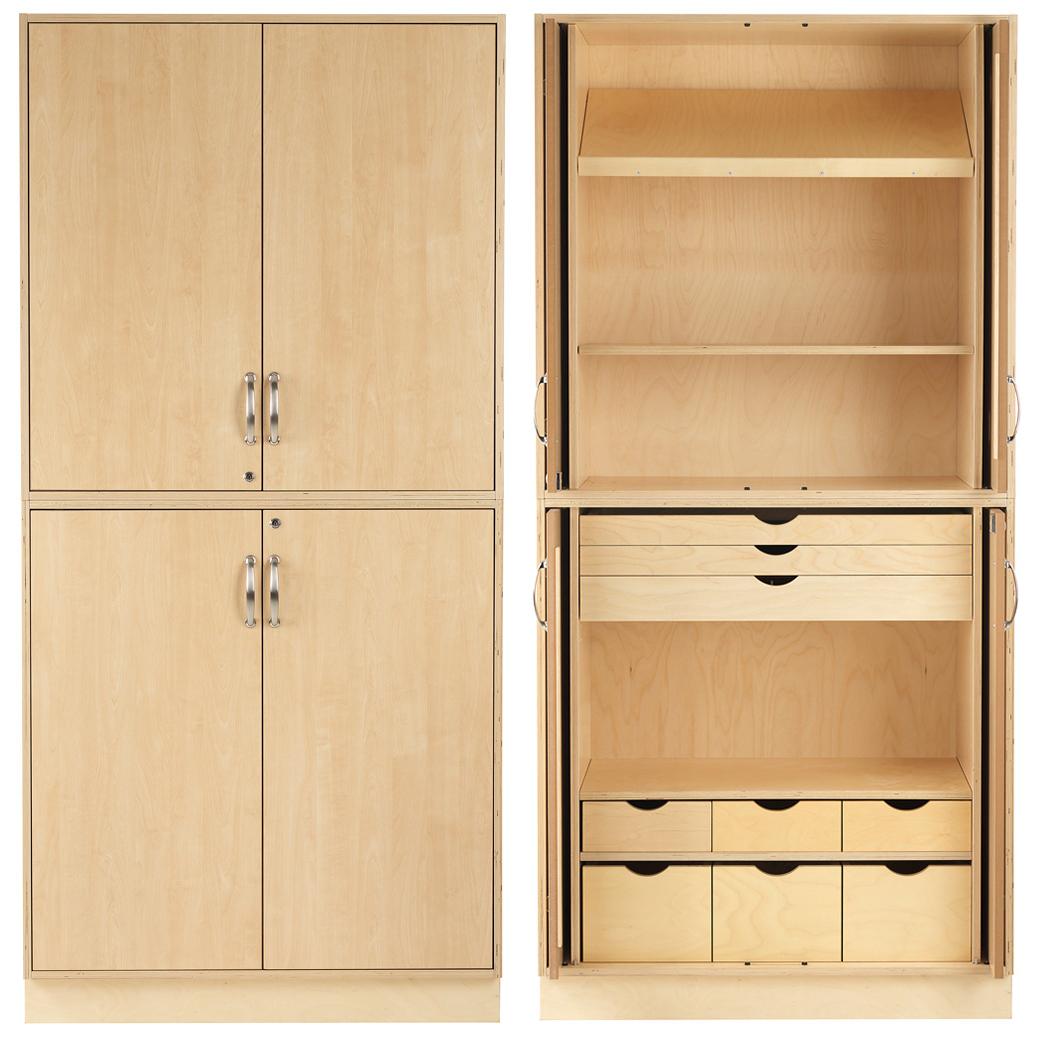 Sjöbergs Cabinet 1, birch doors