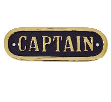 CAPTAIN - skylt
