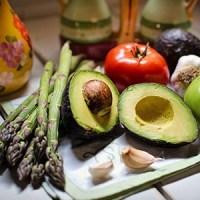 Avocado asperge groente