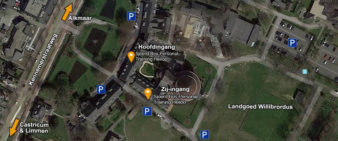 Locatie Ingangen Sjoerd Bos Personal Training Heiloo