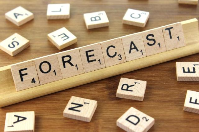 wooden brown tiles with letters spelling 'forecast'