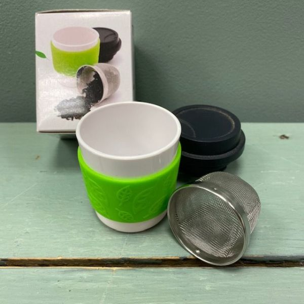 to go cup-floating tea infuser