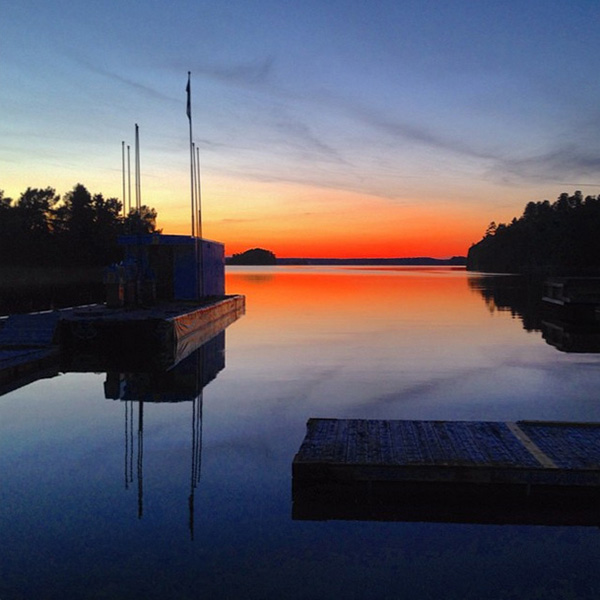 Solnedgång på Muskö Sjökrog - Mickrums brygga