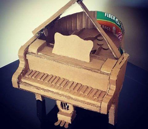 Cardboard piano!
