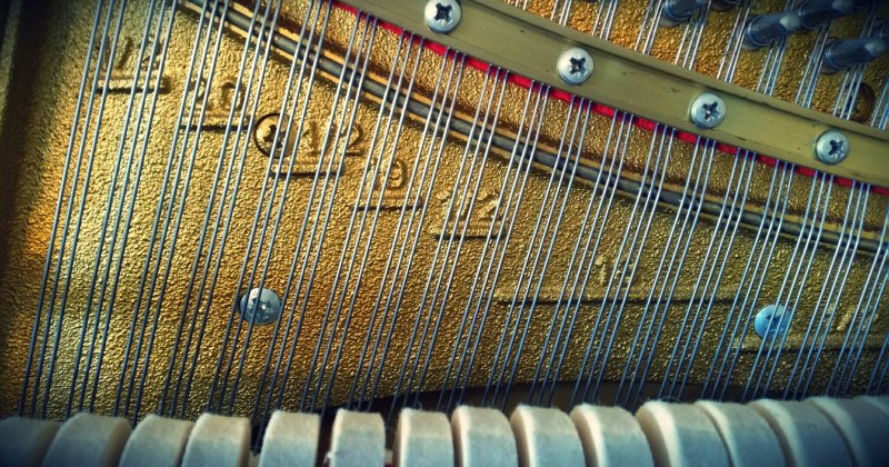 Piano string sizes