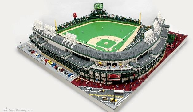 Over 50 000 Lego Bricks Used To Create Replica American Baseball     chicago cubs wrigley field