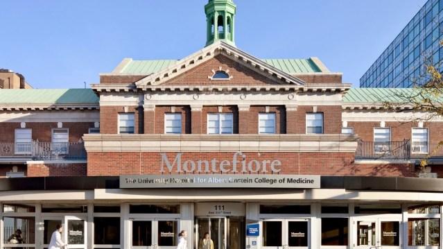 the Montefiore Medical Center entrance