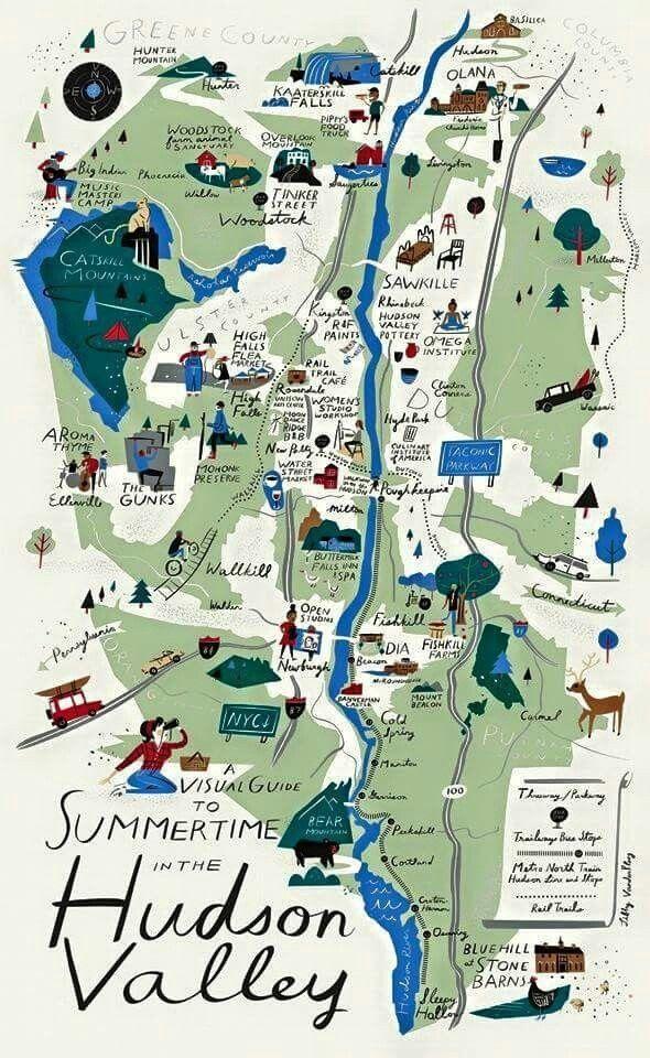 map of Hudson Valley summertime activities