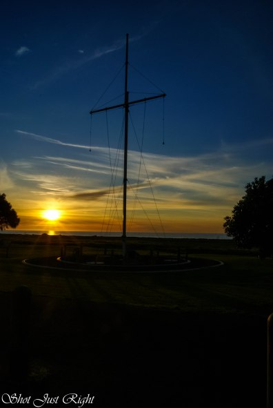 setting sun on the foreshore at Kingston SE South Australia