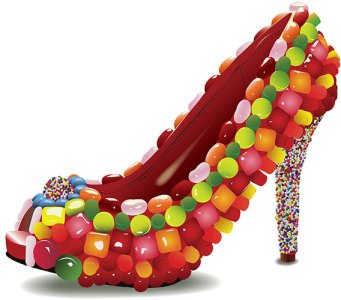 jelly beans on shoes