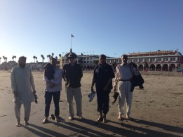 AIOU Faculty Enjoying the beach with SJSU CS Professor Jon Pearce