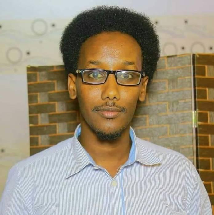 Said Nadaara, Kasmaal Media online editor briefly detained in Galkayo on 13 Jan, 2020. | Photo Courtesy/Kasmaal Media.
