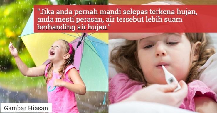 hujan demam