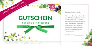 christmas voucher with healthy nutrition images