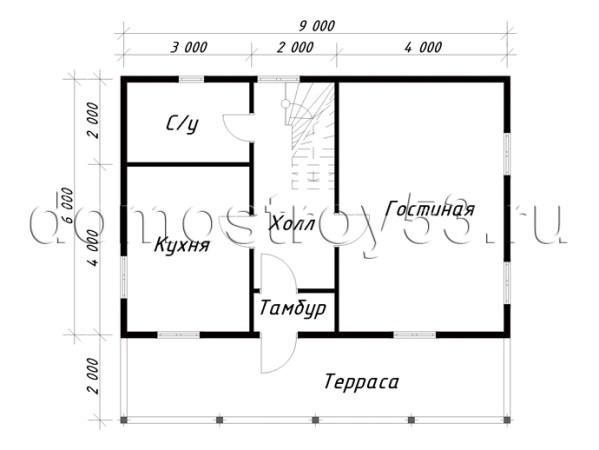 План дома Д-101 этаж 1