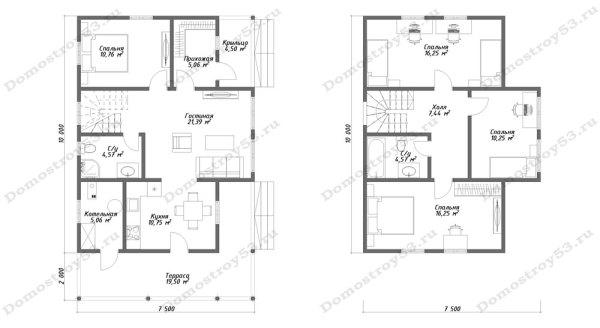 План дома Д-102 вариант 1