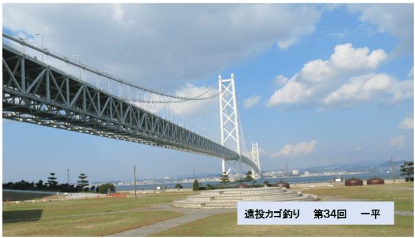 写真ー1 明石海峡大橋を淡路島側から望む
