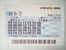 ロト7の抽選券