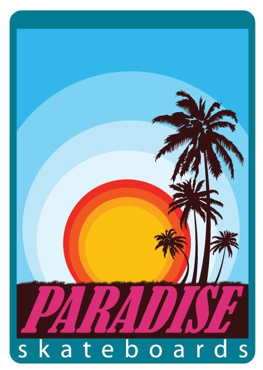 Paradise skateboard