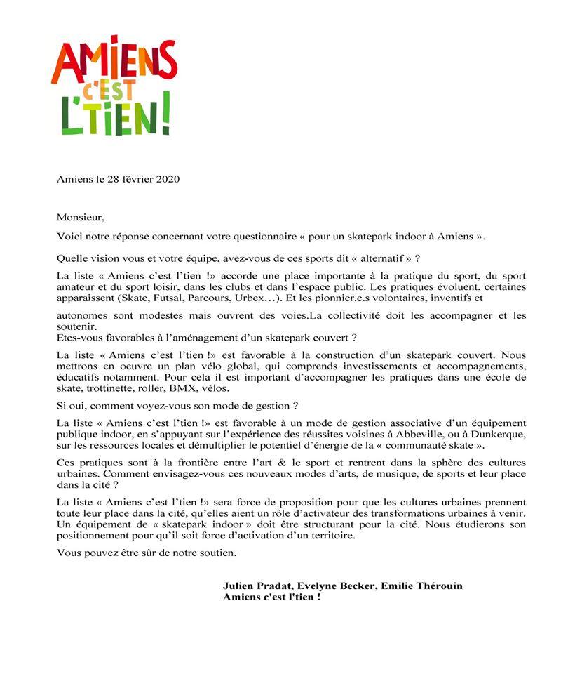 2 mars 2020, Le retour du candidat Julien Pradat  Amiens, c'est l'tie