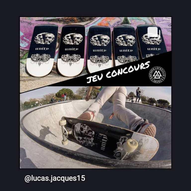 Jeu Unity skateboard sur Insta