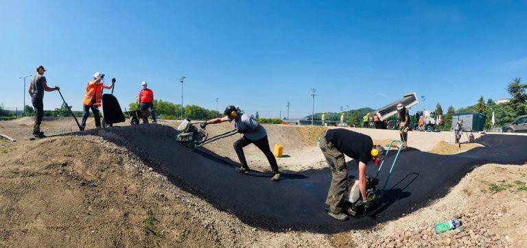 Pumptrack en construction à Laon (02)