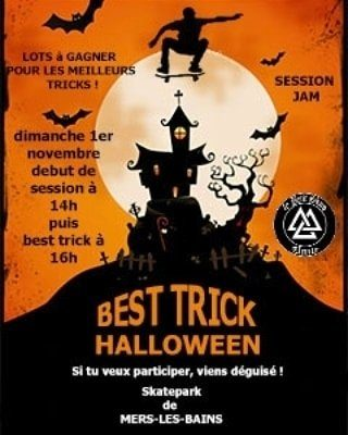 Read more about the article Best trick Halloween 31.10 Skatepark Mers les Bains avec Banana skate