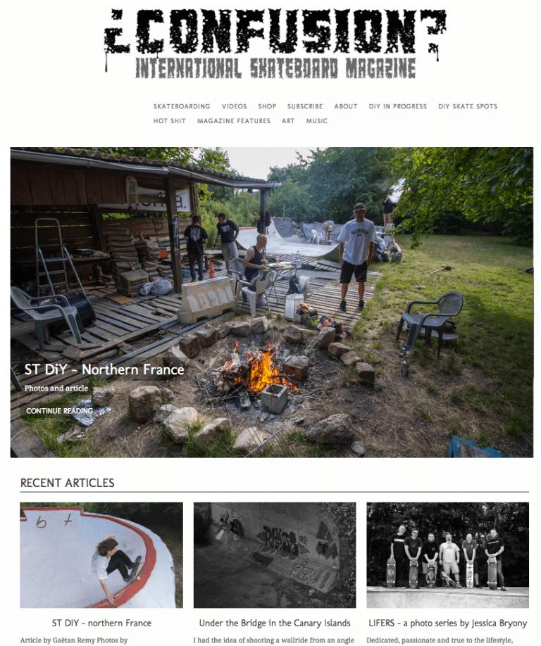Read more about the article Le bowl DIY ST à l'honneur dans Confusion international skateboard magazine