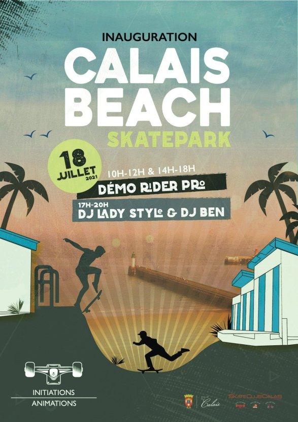 Inauguration CalaisBeachSkatepark juillet2021