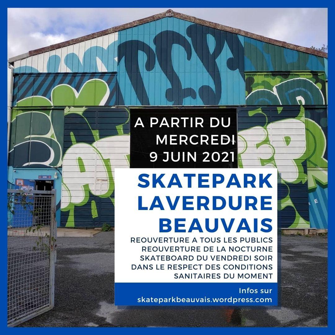 You are currently viewing Réouverture du skatepark Laverdure à tous me. 9 juin 2021
