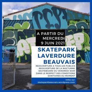 Read more about the article Réouverture du skatepark Laverdure à tous me. 9 juin 2021